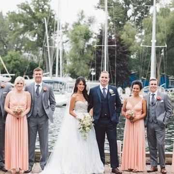 Megan and James' Gorgeous Lake View Wedding at the Royal Canadian Yacht Club