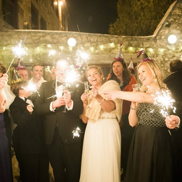 Sarah and Dan's NYE Wedding at Alton Mill Arts Centre