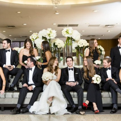 Saturday Night Jive featured in Madison and Josh's Stunning Wedding at Adath Israel Synagogue