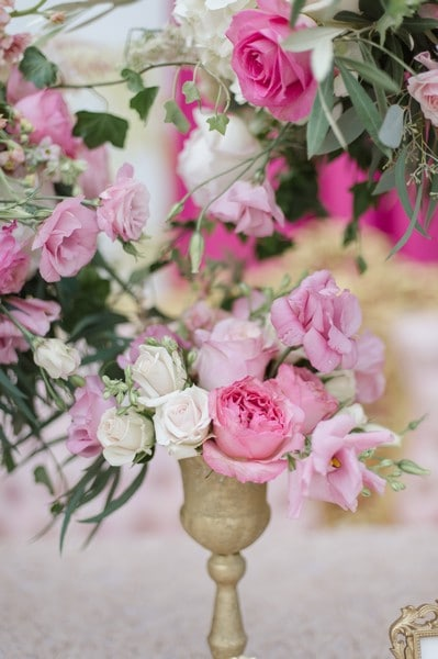 stunning pink flower styled shoot, 12