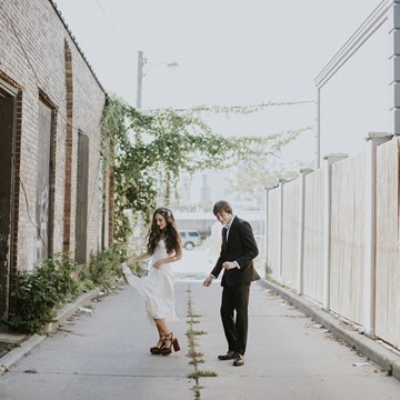 Lauryn and Marc's Vintage-Inspired Wedding at District 28