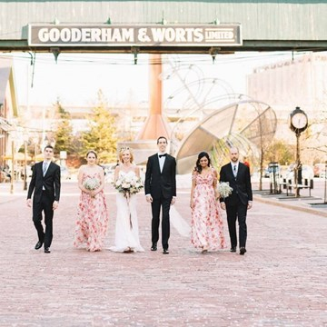 Jen and Ben's Intimate Wedding at The Distillery District's Archeo