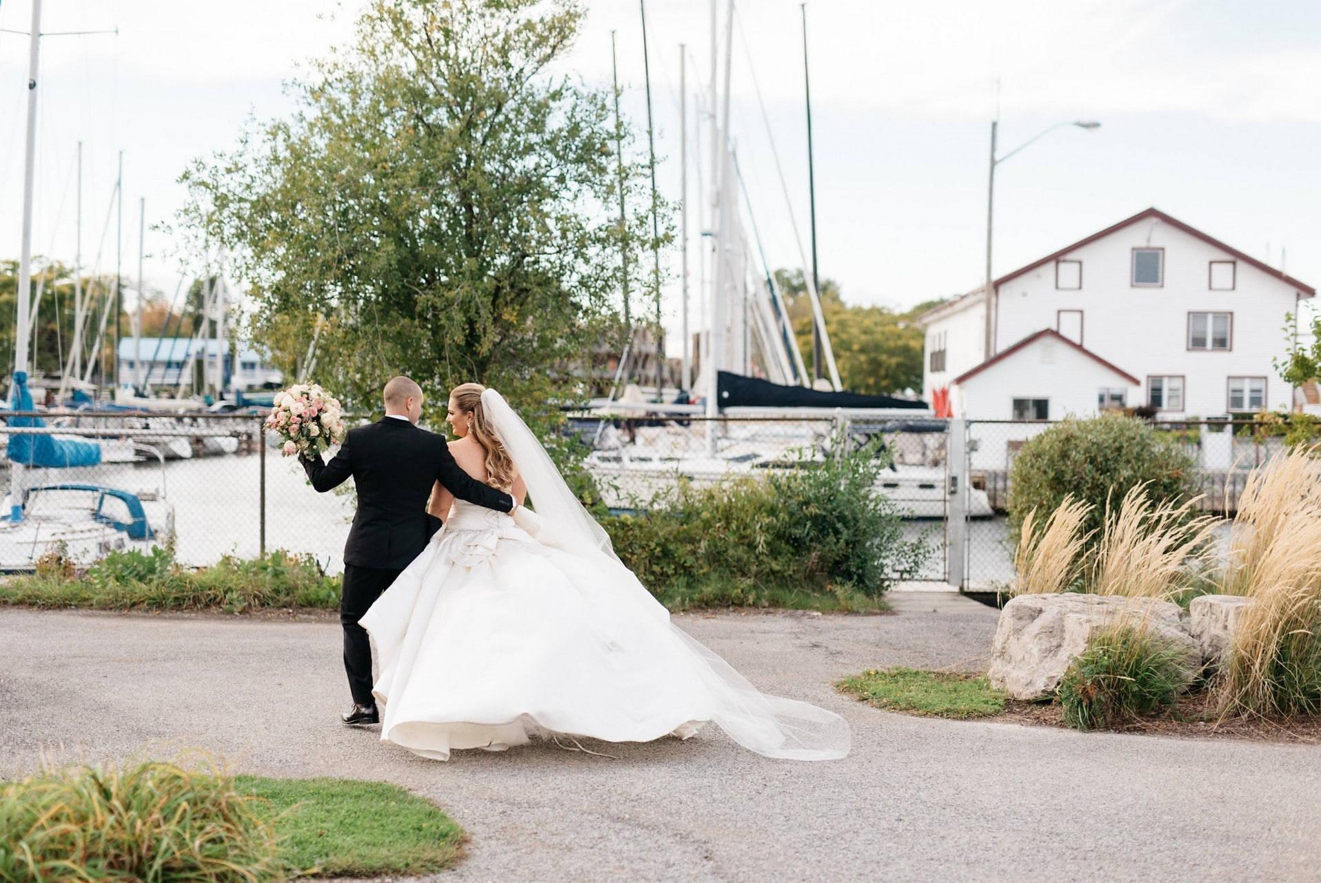 Hero image for Hayley and Zack's Elegant Wedding at Queen's Landing