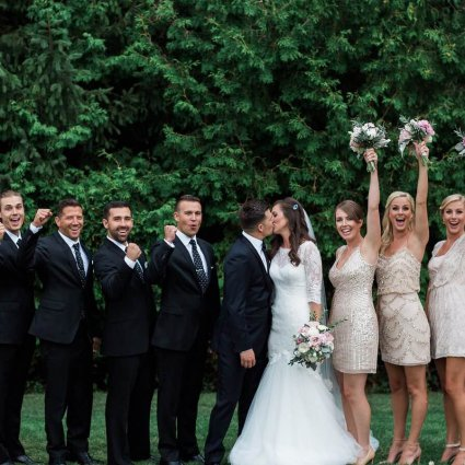 AB Limo featured in Brittany and Trevor's Romantic Wedding At The Miller Lash House