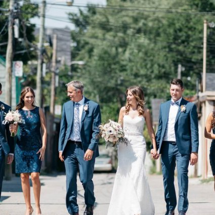Thumbnail for Sarah and Justin's Modern Wedding at The Burroughes