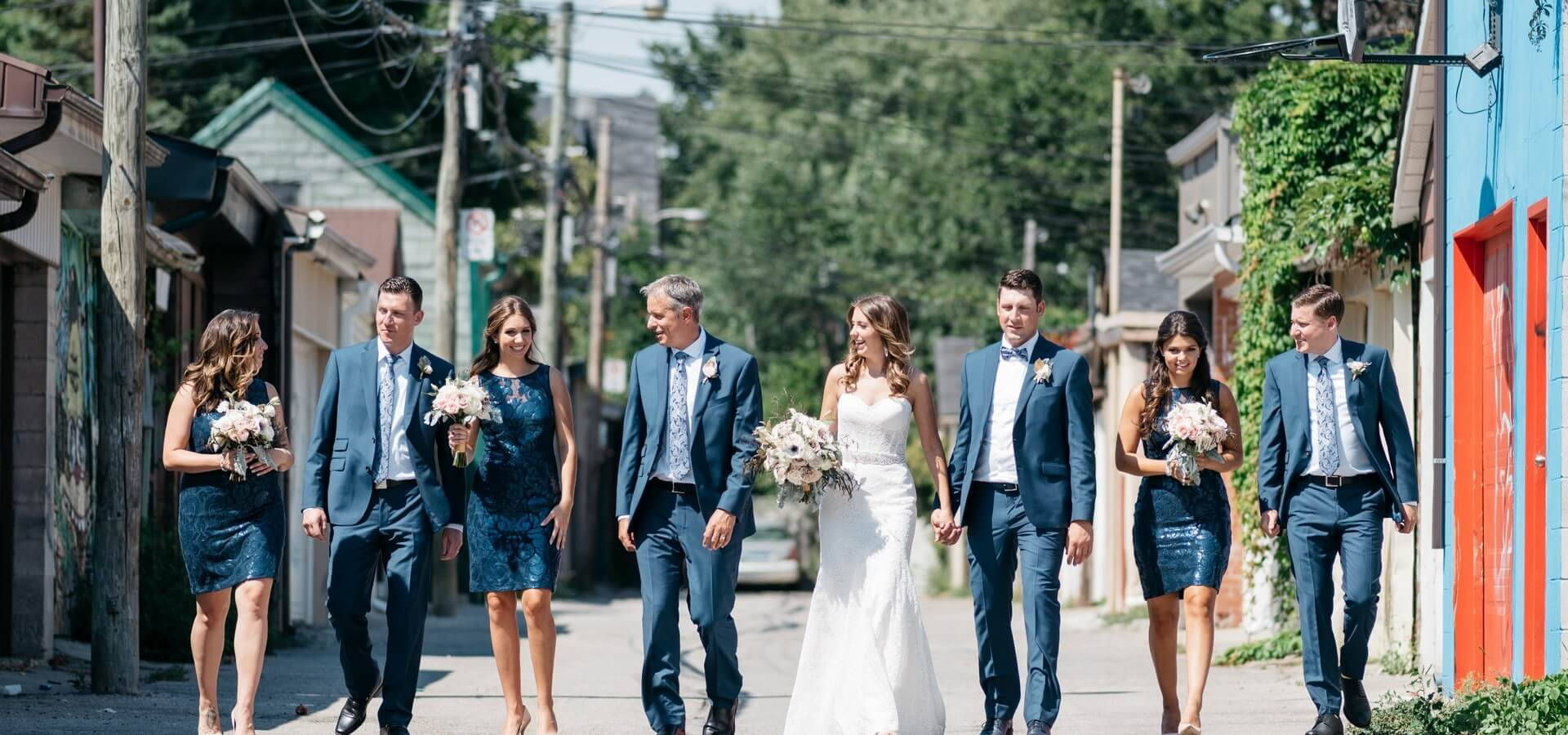 Hero image for Sarah and Justin's Modern Wedding at The Burroughes