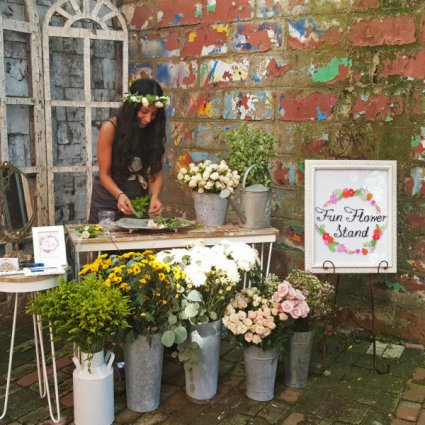 Fun Flower Stand featured in 15 Entertainment Ideas Guaranteed To 'Wow' Your Guests