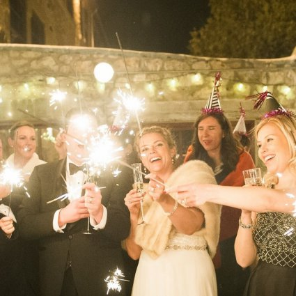 Marvelle Events featured in Sarah and Dan's NYE Wedding at Alton Mill Arts Centre