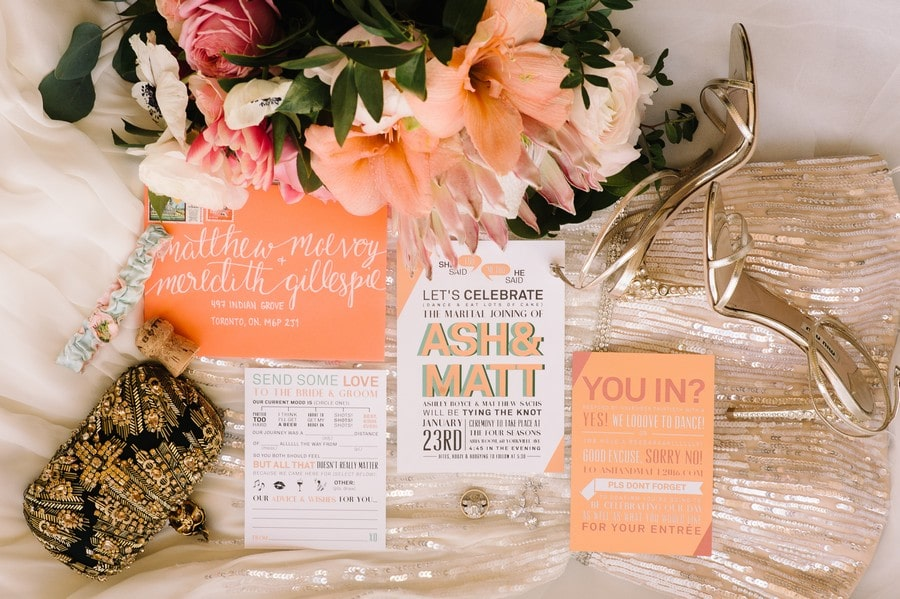 Beet & Path featured in Ash and Matt's Ultra Fun Wedding at the Four Seasons Hotel