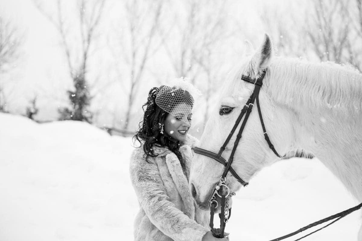 Hero image for Cristina and Marcello's Intimate Winter Wedding