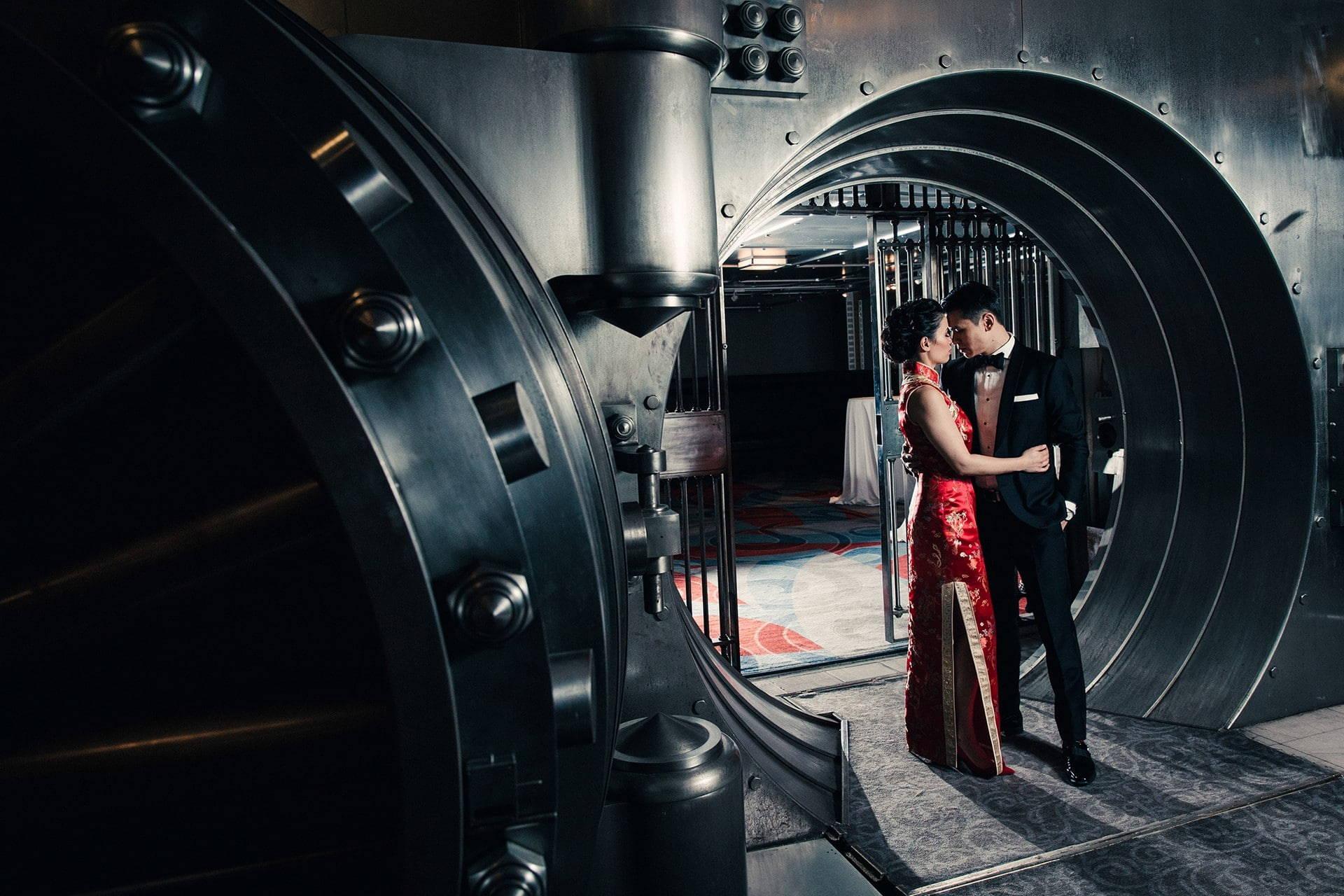 Hero image for Stefanie and Steven's Elegant Black-Tie Wedding at One King West