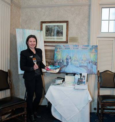 Olga Pankova - Live Event Artist featured in The 2017 Wedding Open House at The Albany Club