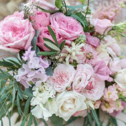 Thumbnail for A Stunning Pink Flower Inspired Styled Shoot