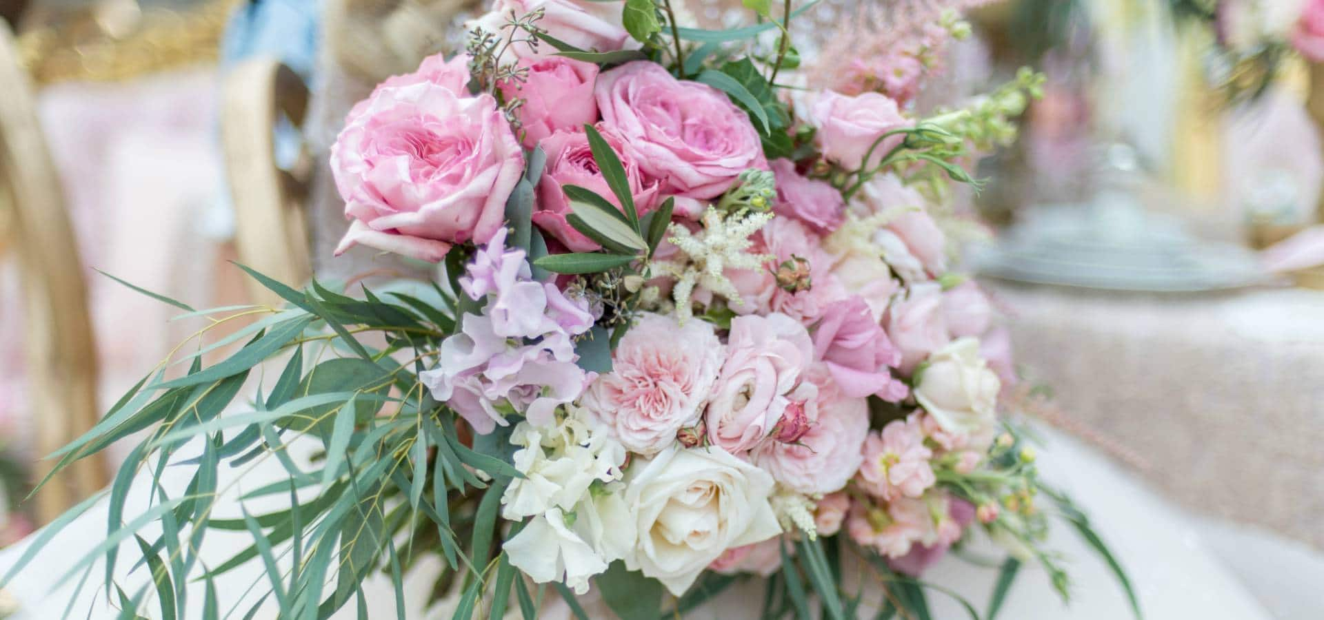 Hero image for A Stunning Pink Flower Inspired Styled Shoot