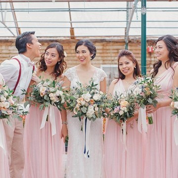 Angela and Marvin's Magical Garden Inspired Wedding at Madsen's Banquet Hall