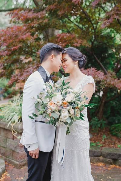 Ashton Creative featured in Angela and Marvin's Magical Garden Inspired Wedding at Madsen…