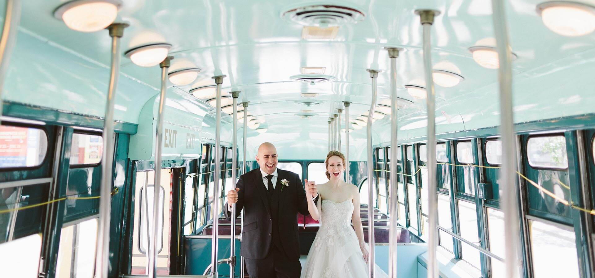 Hero image for Jenny and Neal's Chic Urban Wedding at Arcadian Loft