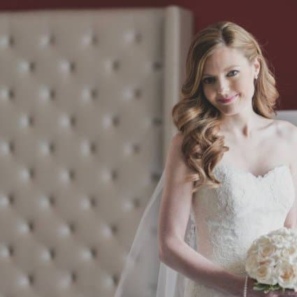 Blushing Beauty featured in Lia and Jaime's Beautiful Winter Wedding at the Omni King Edw…