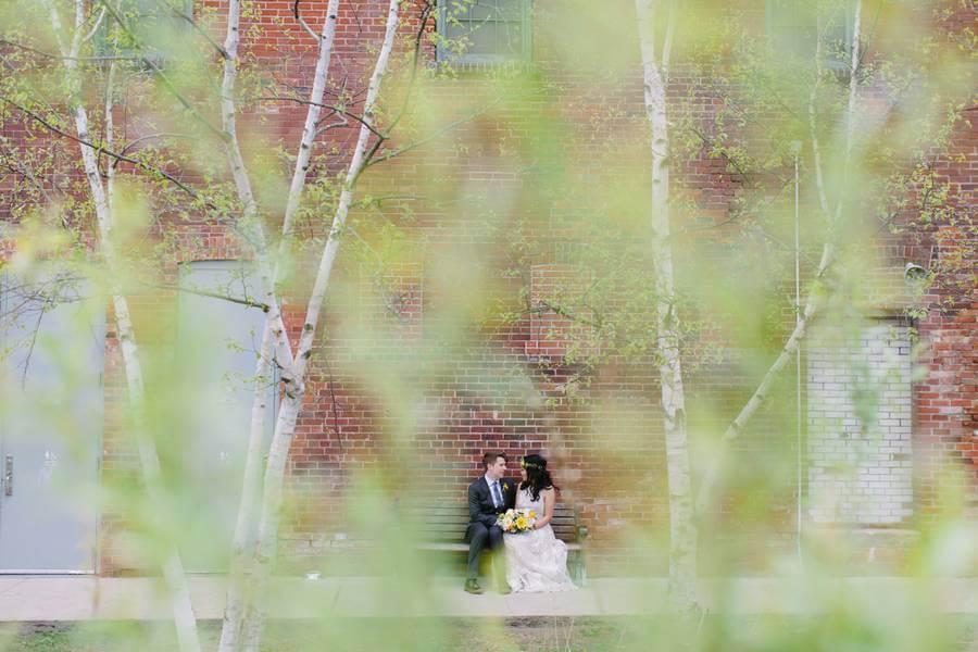 Clara And Geordie S Urban Vintage Inspired Wedding At The Berkeley Church Amp Fieldhouse