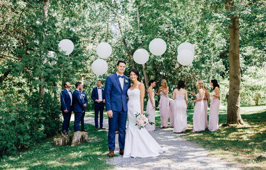 White-and-Blush Wedding