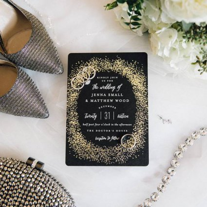 Paper Trails Design Co. featured in Jenna and Matthew's Classically Modern Wedding At The Doctor'…