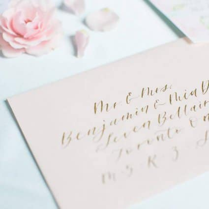 Mandy Calligraphy featured in A Spring Garden Style Shoot at The Doctor's House