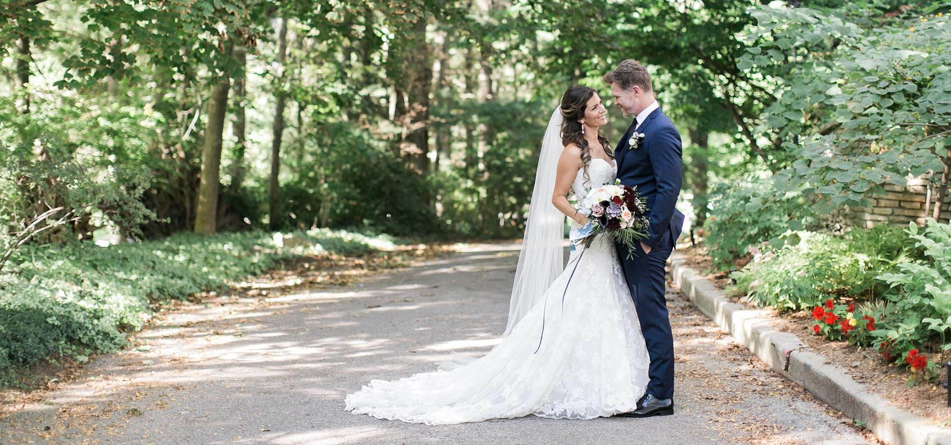 Hero image for Ashley and Brian's Intimate Wedding at Ancaster Mill