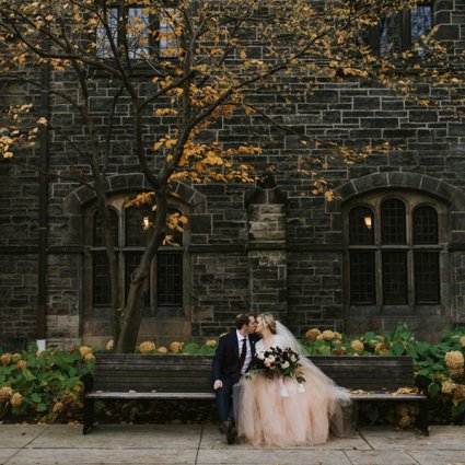 Thompson Landry Gallery featured in Sarah and Jeff's Romantic Fall Wedding at Thompson Landry Gal…