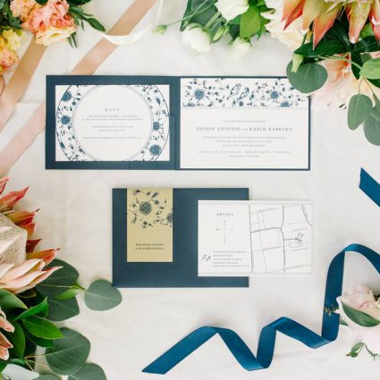 Ferris Wheel Press featured in Denise and Karim's Elegant Wedding in the McLean House at The…
