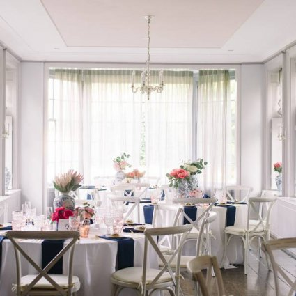 Estates of Sunnybrook featured in Denise and Karim's Elegant Wedding in the McLean House at The…