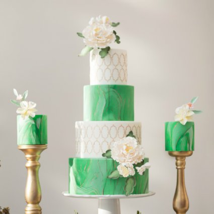 Sinfully Sweet Co. featured in A Stunning Green-and-Gold Style Shoot at Aga Khan Museum