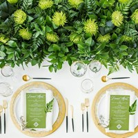 A Stunning Green-and-Gold Style Shoot at Aga Khan Museum