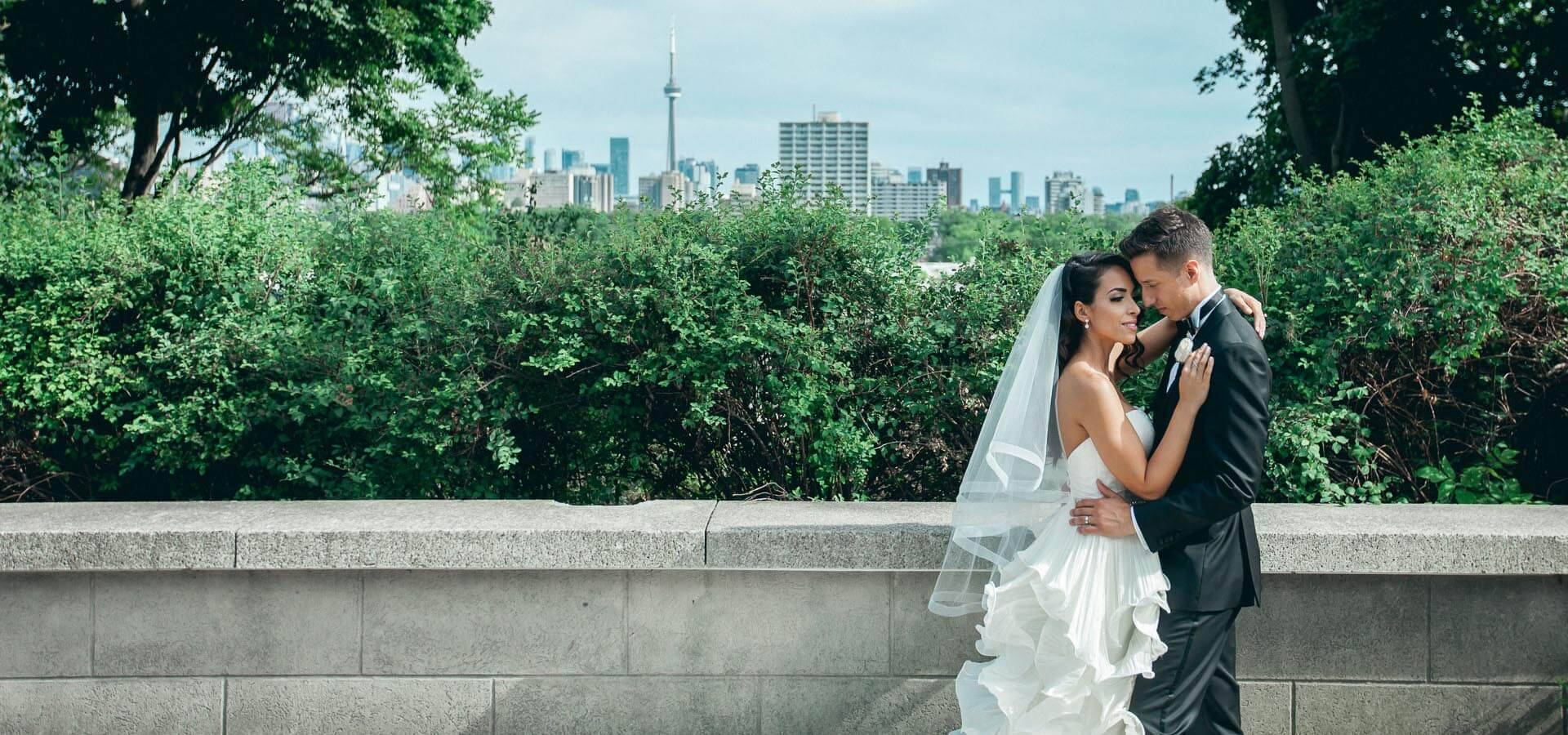 Hero image for Laura and Tomas' All White Wedding in Casa Loma's Glass Pavilion