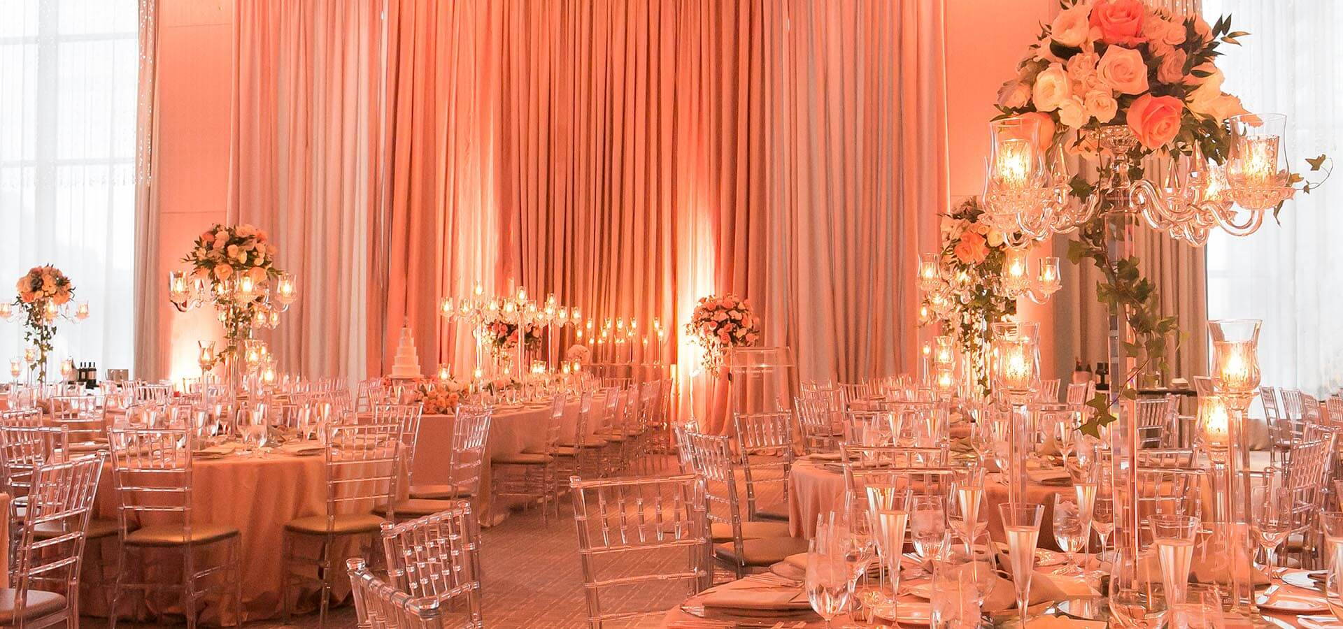 Hero image for Kristen and Jimmy's Blush Pink Wedding at the Four Seasons Hotel