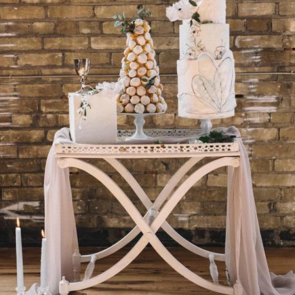 Cakelaine featured in Style Shoot: A Sultry Industrial Garden Romance