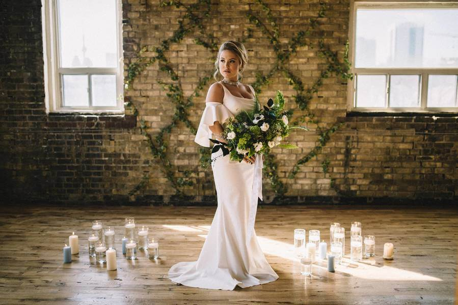 Style Shoot: A Sultry Industrial Garden Romance