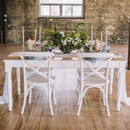 Country Lane Vintage Rentals featured in Style Shoot: A Sultry Industrial Garden Romance