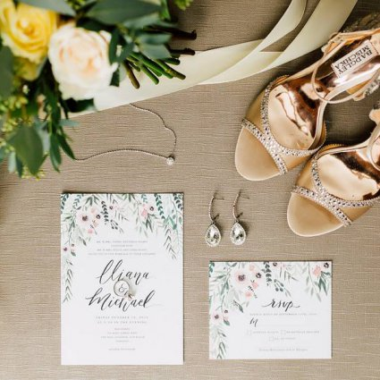 Peartree and Clover featured in Iliana and Michael's Simply Elegant Wedding at Malaparte