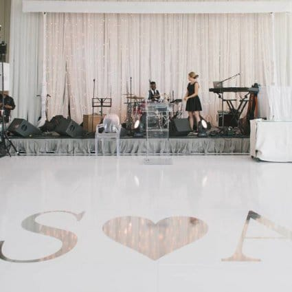 Event Graffiti featured in Alanna and Shmuel's Elegant White Wedding at The Four Seasons…