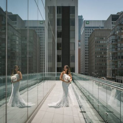Four Seasons Hotel Toronto featured in Alanna and Shmuel's Elegant White Wedding at The Four Seasons…