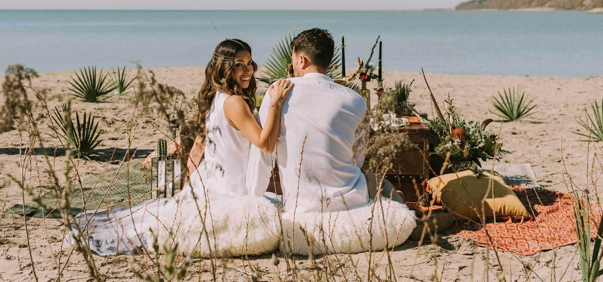 Hero image for Boho-Glam Wedding Inspiration Style Shoot in the Scarborough Bluffs