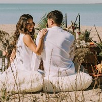 Boho-Glam Wedding Inspiration Style Shoot in the Scarborough Bluffs