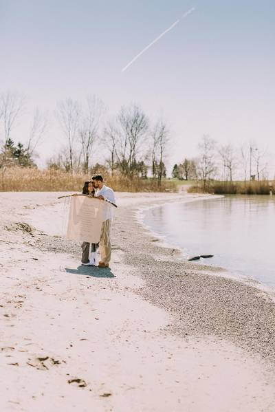 boho glam wedding inspiration style shoot in the scarborough bluffs, 2
