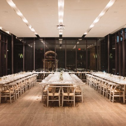 Gardiner Museum featured in Ali and Marijan's Minimalist Geometric Style Wedding at the G…