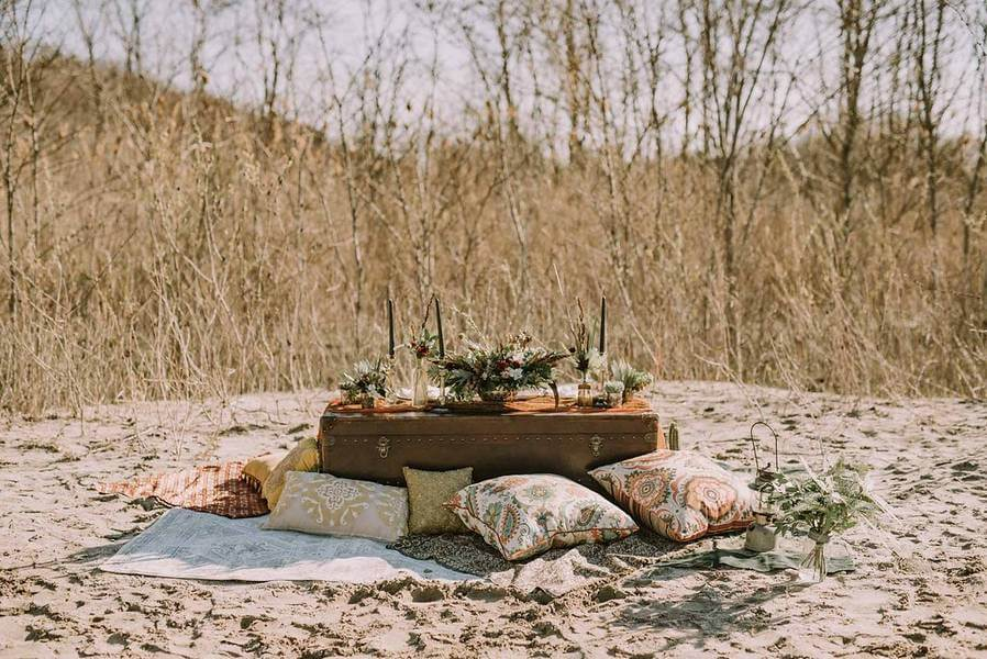 boho glam wedding inspiration style shoot in the scarborough bluffs, 25