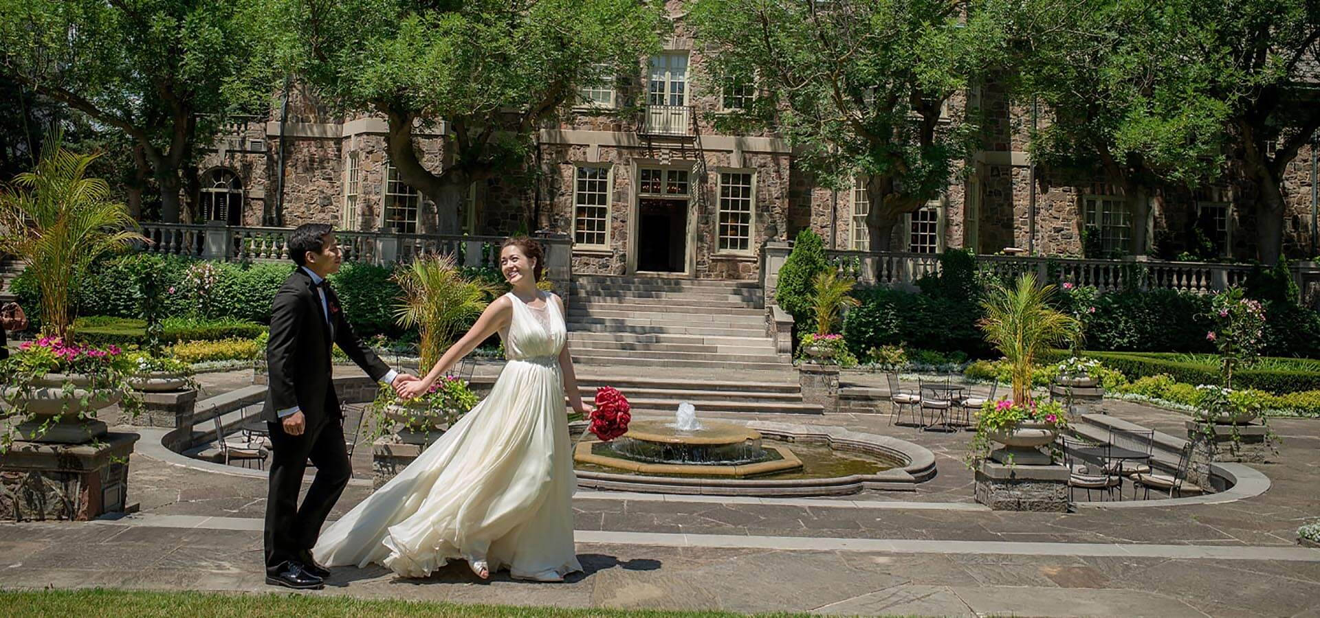 Hero image for Amy and Kiet's Sophisticated Art Deco Wedding at Eglinton Grand