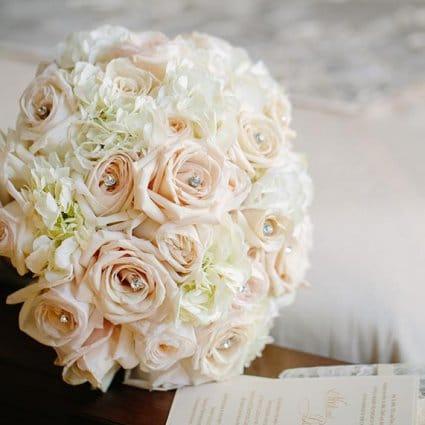 Gatto Flowers featured in Nikki and Daniel's Elegant Wedding at Fontana Primavera Event…