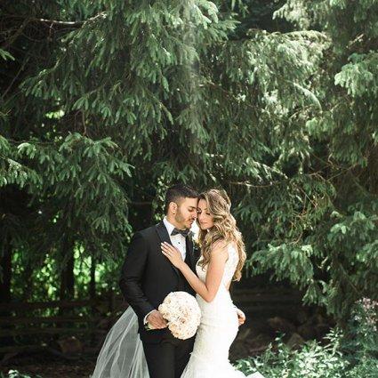 La Primavera Event Space featured in Nikki and Daniel's Elegant Wedding at Fontana Primavera Event…