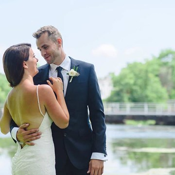 Lesley and Tyler's Rose Gold Rustic Wedding at Whistle Bear Golf Club