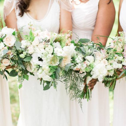Threads and Blooms featured in Trina and Adam's Sweet Wedding at the Berkeley Church